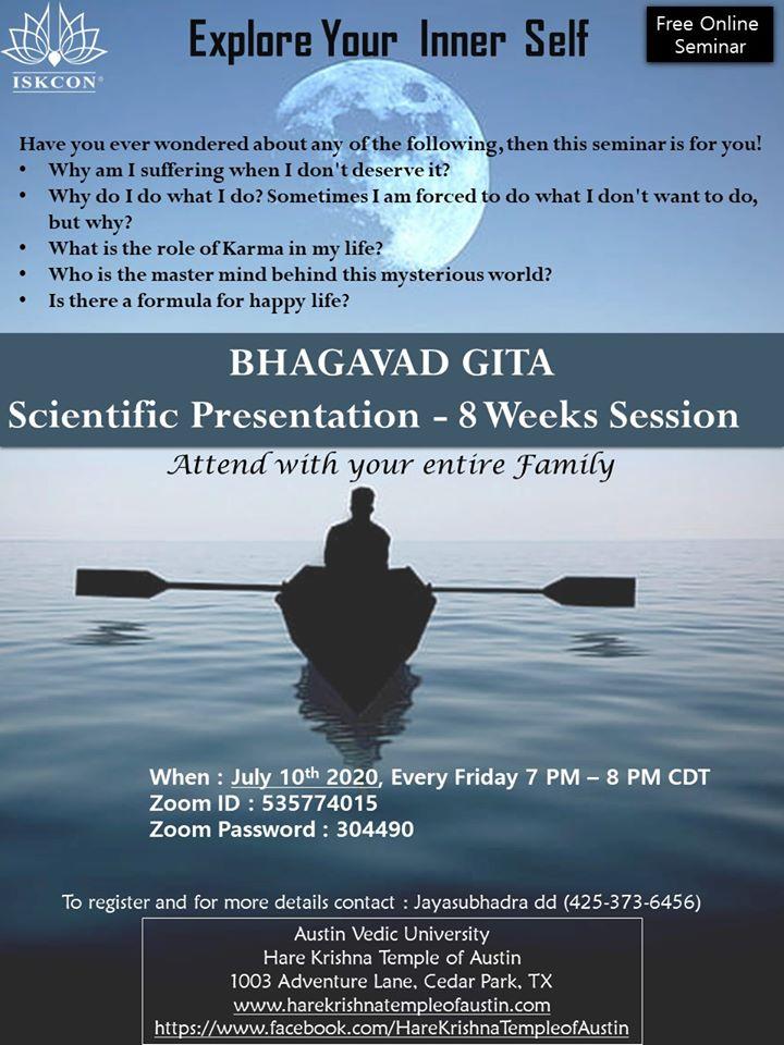 Bhagavad Gita - Scientific Presentation - 8 weeks Session